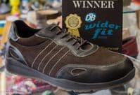 Seb mens active sports trainers 4E wide fit best selling shoe in brown from an Db Easy b wide fit specialist near Basingstoke Hampshire.